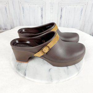 CROCS Dual Comfort Brown Slip On Clogs